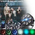 WUZSTAR светодиодный Par 9x3 Вт RGBW 4в1 Дискотека DJ звуковая активация светильник s с DMX512 для клуба сценический светильник Рождественский проектор с...
