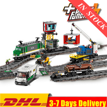 2020 IN Stock 02118 02117 City Cargo Train Remote Control Building Kit Building Blocks Bricks Model Toys Fit For 02008 60198