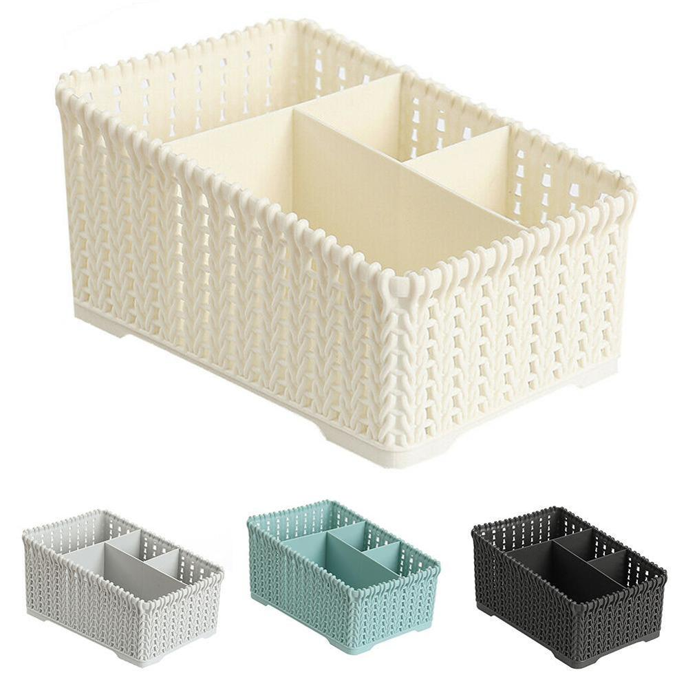 Imitation Rattan Office Debris Storage Baskets Remote Storage Basket Makeup Organizer For Bathroom Dropshipping