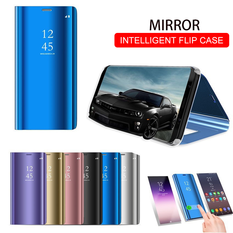 Smart Mirror Flip Phone Case For Huawei Honor 8X P30 P20 Lite Mate 20 10 Pro Note 10 P Smart Z Y5 Y6 Y9 Y7 Prime 2019 View Cover(China)