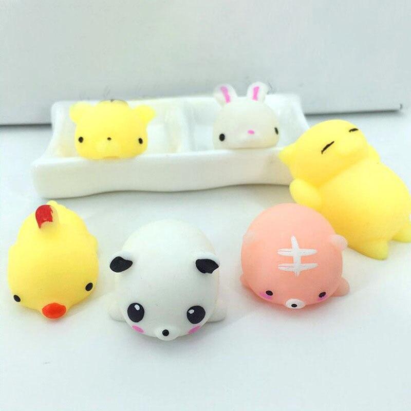 10Pcs Weiche Kawaii TPR Stress Relief Spielzeug Dilicate Langsam Rising Trick Squishy Matschig Squeeze Spielzeug Für Kinder Geschenk