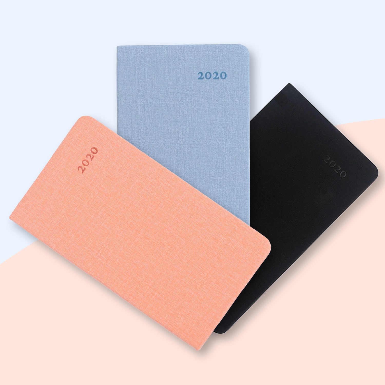 A6 2020 calendário planejador mensal agenda diária plano notebooks com 52 páginas para estudantes de escritório em casa suprimentos