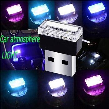 Car Mini Atmosphere Light Automotive USB LED Night Lamp Portable Car Atmosphere LED Light Assisted Night Illumination Tool