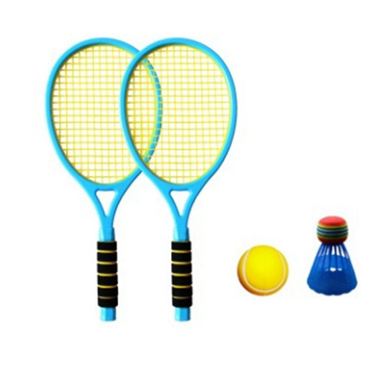 Hot AD-Badminton Set For Kids With 2x Rackets Ball Junior Tennis Racquet Play Game Kids Toys