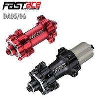 FASTACE MTB bike disc hub 24 hole straight pull 4 sealed bearing quick release aluminum alloy bicycle hub DA05 DA06