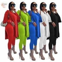 Conjuntos de calças femininas de duas peças, conjunto de roupa para corrida com calça legging e top solto