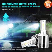 NOVSIGHT – phare de voiture sans fil H15, ampoule 60W 10000LM, lumière de conduite 6500K, pour VW Audi