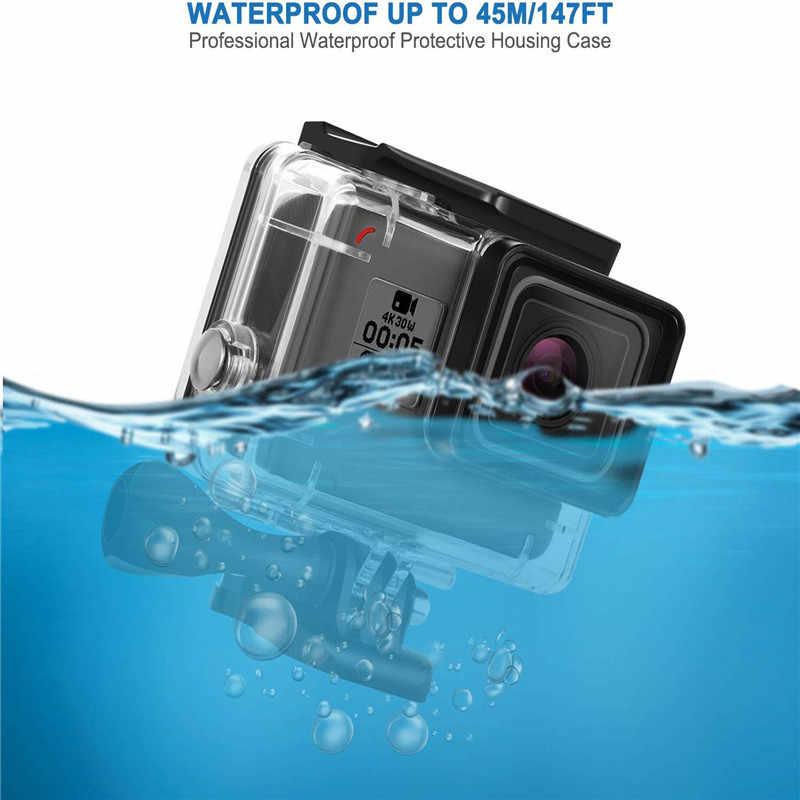 Tahan Air Menyelam 45M Housing + Warna Menyelam Filter Lensa Kit + Anti-Kabut Insert untuk GOPRO HERO 5 6 7 Olahraga Kamera Go Pro Go PRO Aksesoris