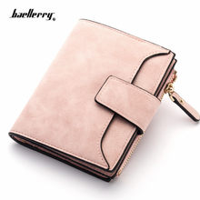 Cartera de cuero con broche para mujer, monedero pequeño y delgado, tarjetero, billetera y cartera de diseñador de marca de lujo, 2021