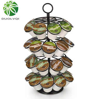 Duolvqi Coffee Pod Holder Rotating Dispenser Coffee Capsules Tower Stand For 36pcs K-CUP/Dolce Gusto Coffee Capsules - DISCOUNT ITEM  44 OFF Home & Garden