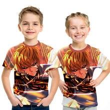 2019 Boy Girls Summer 3D T-shirt Children Anime One punch Superman Saitama Group Print Tee Tops Clothes Kids Clothing Tshirt