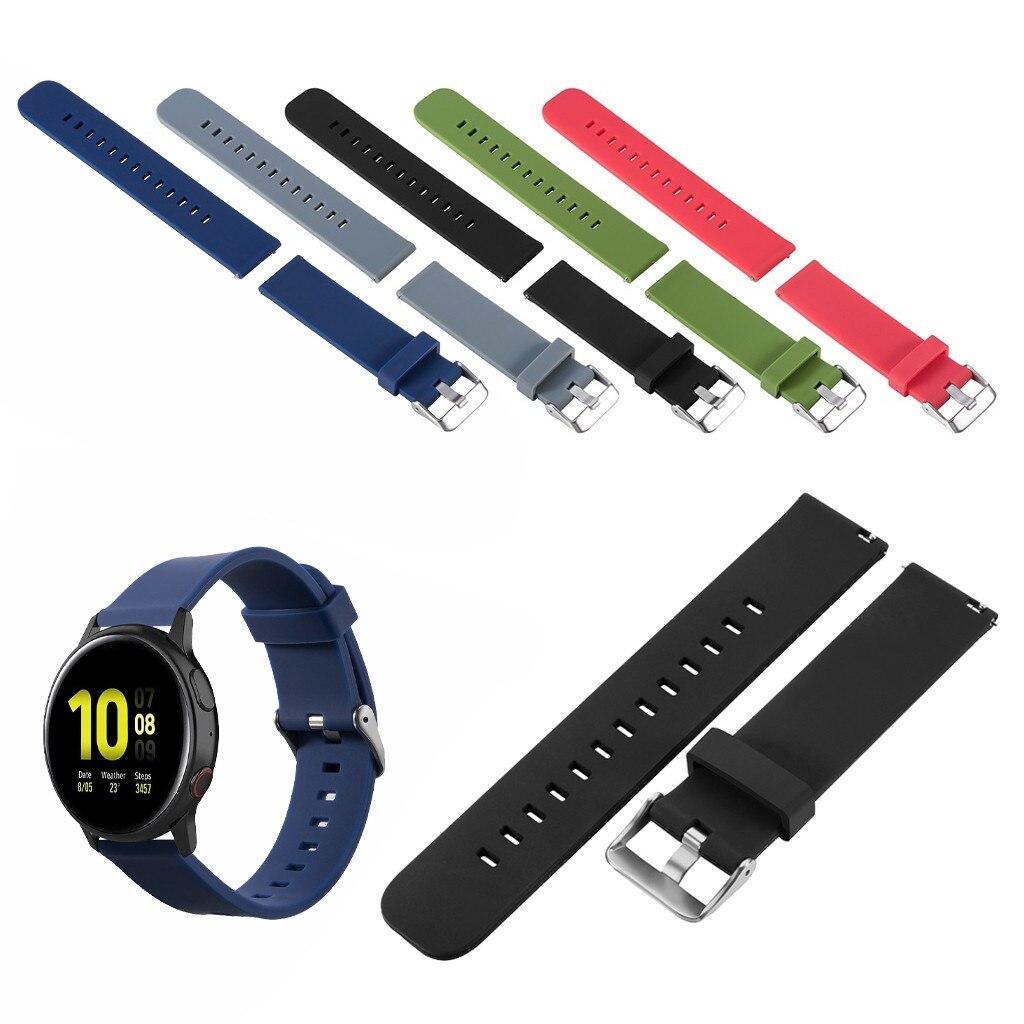 Silicone Watch Straps On For Samsung Galaxy Watch Active 2 Watchbands Correas De Reloj De Silicona Repalcement Bands Bracelets