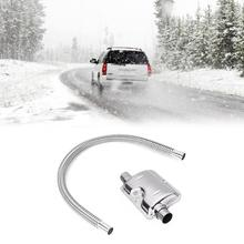 120cm Exhaust Muffler Pipe Silencer Stainless Steel Car Gas Vent Hose Diesel Heater for Accessories