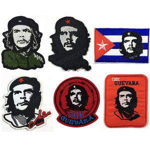 Vintage Embroidered ERNESTO Che Guevara Portrait Patch Cuban Revolution Leader Iron On Applique military Jacket Backpack patches(China)