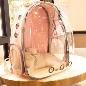 Image 4 - High Quality Astronaut Outdoor Carrying Breathable Space Capsule Travel Bag Portable Transparent Pet Carrier Cat Dog Backpack