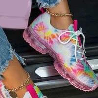 Кроссовки на шнуровке женские цветные 1