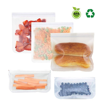 4 sztuk wielokrotnego użytku przechowywanie żywności torby schowek do lodówki torba worki do zamrażarki Ziplock torba na Lunch by zaspokoić głód zamawiając przekąski owoce kanapki tanie i dobre opinie faroot Japan style