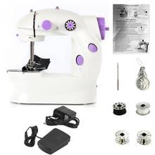 Электрическая швейная мини машинка для дома, легкая, ручная машинка для шитья, 110/220 В, регулируемая скорость