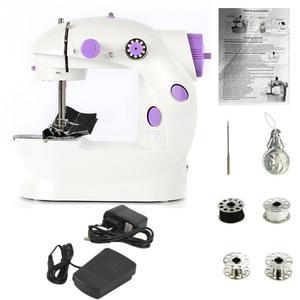 Image 1 - חשמלי מיני מכונת תפירה לבית יד מכונה כדי לתפור 110/220V התאמת מהירות עם אור כף יד תפירה מכונה