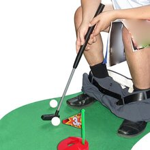 Funny Toilet Golf Funny Potty Putter Set Wc Golf Toy Golfing Game Indoor Practice Perfect Mini Golf Novelty Gag Gift Set stainless glasses gifts desktop bar wine game golf drinking game mini enjoyment golf table game interesting family indoor