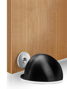 KAK Hardware Doorstop Catch Stainless-Steel Magnetic Black Hidden Non-Punching-Sticker