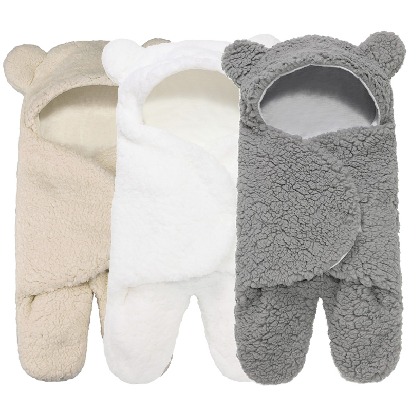 934.0¥ 48% OFF|Cute Newborn Baby Boys Girls Blankets Plush Swaddle Blankets  0 6 Month Extra Soft B...