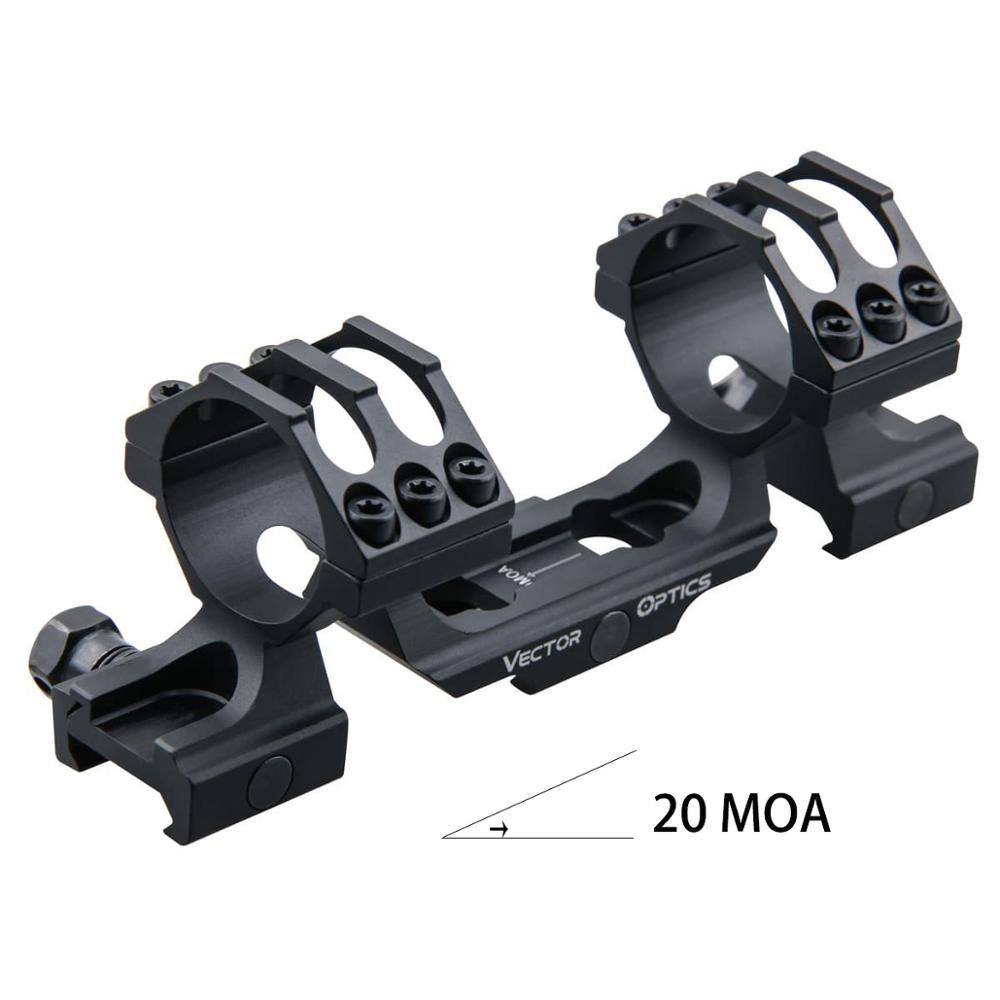 Vector Optics 20 MOA Extended One Piece MSR Scope Mount 30mm 1.25inch Profile Picatinny Mount Based for Long Range Shooting