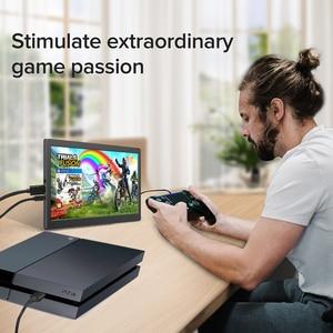 Портативный USB монитор IPS дисплей с USB-C и HDMI входом тонкий и легкий для ноутбука, смартфона, переключатель PS4 Xbox игровая консоль