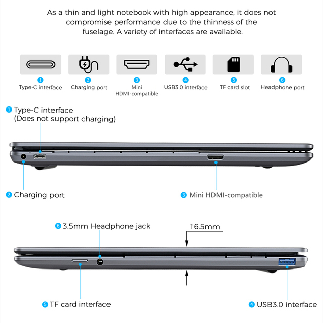 KUU Intel J4115 14.1-inch IPS Screen All Metal Shell Office Notebook 8GB DDR4 RAM 512GB M.2 SSD with type C laptop 6