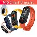 Смарт-браслет M6 для мужчин и женщин, фитнес-трекер, монитор сердечного ритма и артериального давления, спортивные водонепроницаемые Смарт-ч...
