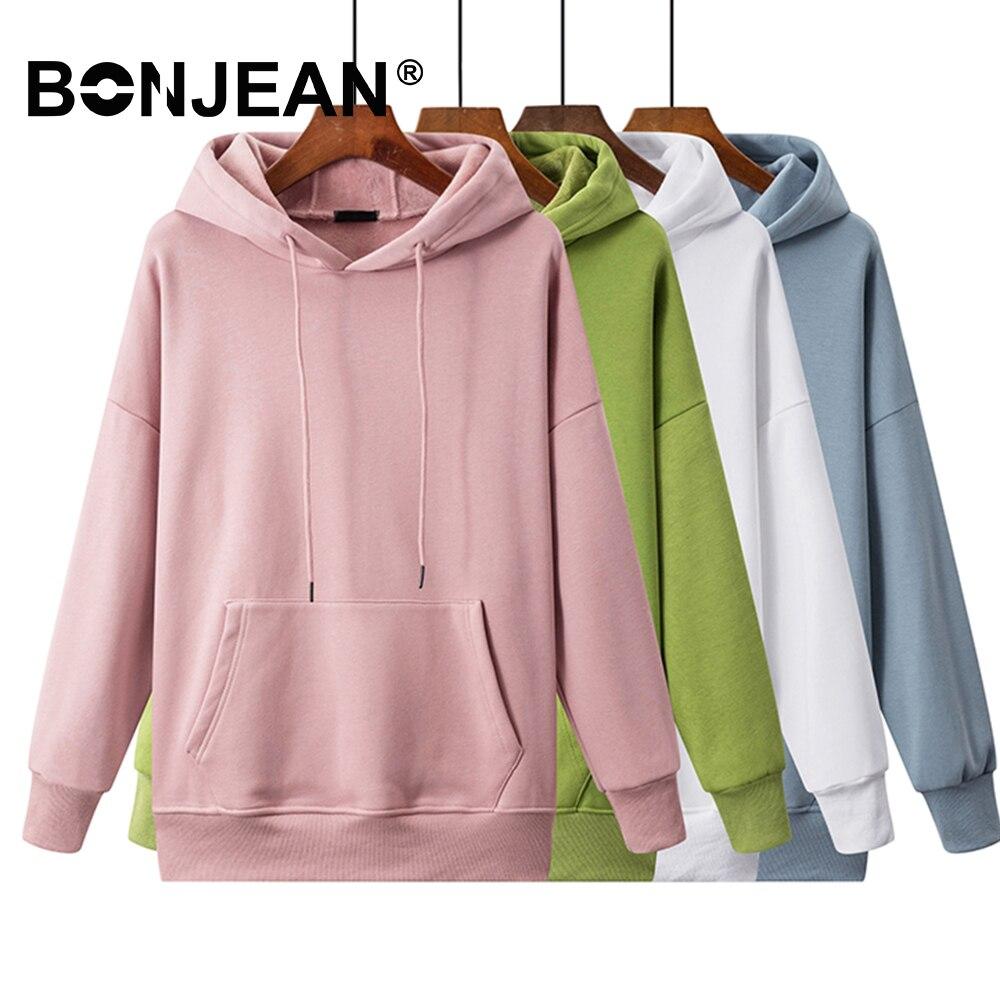 Basics Sweatshirt Women White Hoodie Ladies Pink Hoodie Blue Green Yellow Red Black Casual Korean Woman Clothes Z332