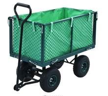 Chariot de jardin de grande capacité, 250kg/350KG, Transport à 4 roues, maille en acier métallique, capacité de brouette