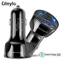 Olnylo  Quick Charge 3.0 USB Car Charger for iPhone 11 XR XS Samsung Xiaomi Car Charger Fast QC 3.0 2.0 Mobile Phone Charger USB olnylo car charger quick charge 3 0 dual usb for iphone 11 pro xr xs max x xiaomi huawei mobile phone charger fast car charger