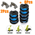 8pcs AC14RL3A Garden Grass Trimmer Head For Lawn Mower Trimmer Spool Line with 2 Spool Covers For Ryobi One Lawn Mower|Weeders|   -