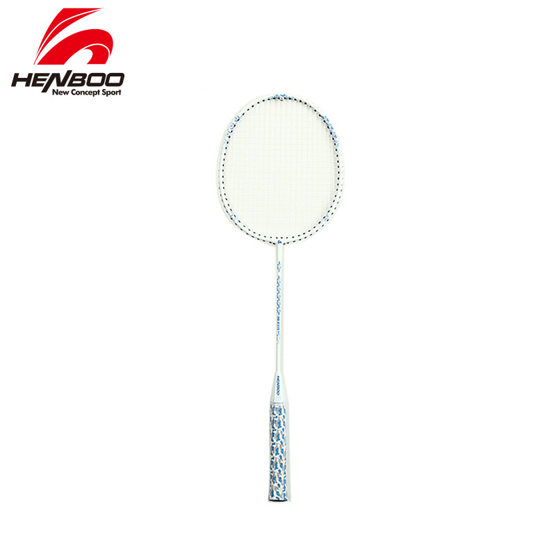 HENBOO High Lightweight Badminton Racket Iron Alloy Training Badminton Racket With Tote Bag Sports Equipment Standard Use 2319
