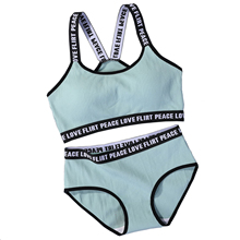 JELLPE ladies letter sports bra push-up sports bra underwear set fitness running yoga sports top jogging gym women sports bra