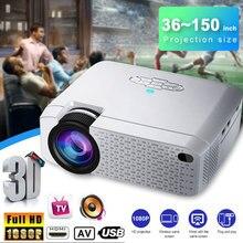D40W светодиодный мини проектор видео проектор для домашнего кинотеатра 1600 люмен Поддержка HD беспроводной синхронизация Дисплей для iPhone/Android телефона
