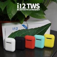 i12 tws Matte Bluetooth Earphone Wireless Earbuds Hands free Business Earpieces Sport Headset Blueto