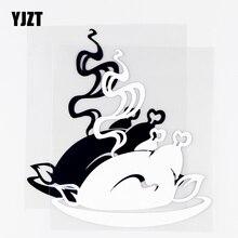 YJZT 12.8×14.4CM Delicious Food Interesting Car Window Cool Decor Vinyl Car Stickers Decals Black / Silver 10A 0782