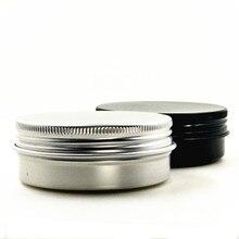 60 г/2 унции алюминиевая бутылка для крема, comestic контейнеры с винтовой резьбой, алюминиевые банки для бальзама