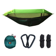 Outdoor Camping Hammock with Mosquito Portable Sleeping UV Proof Swing Backpacking Travel and Hunting Hanging