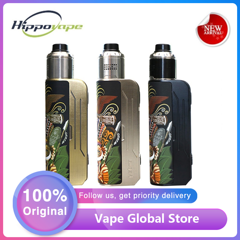 Original Hippovape Papua 100W Box MOD Power By One 18650/20700/21700 Battery & Waterproof Chipset Vs Kudos/ GEN MOD / DRAG 2