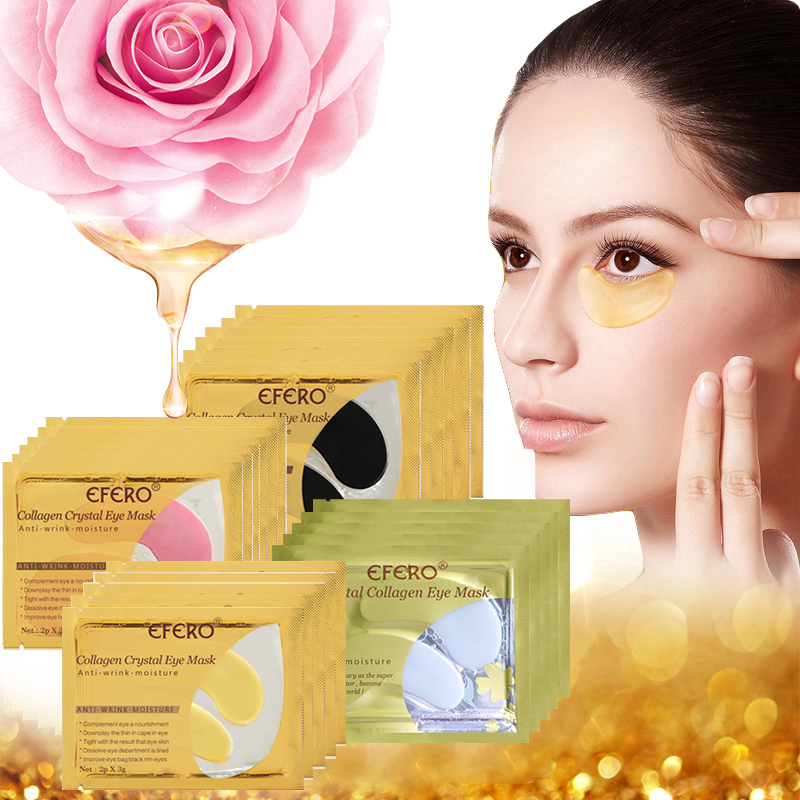 Crystal Collagen Eye Mask Dark Circles Gel Eye Patches Under The Eyes Gold Masks Anti-puffiness Eyelid Patch Anti-Wrinkle Aging