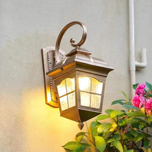 E27 outdoor wall light europe villa retro sconce lamp waterproof exterior garden doorway light vintage porch lamp Black