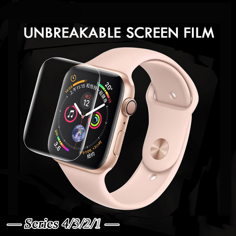 9D UV Liquid full glue Tempered Glass for apple Watch Series 4 3 2 1 full cover Screen Protector Watch 38 42 40 44 mm UV glass