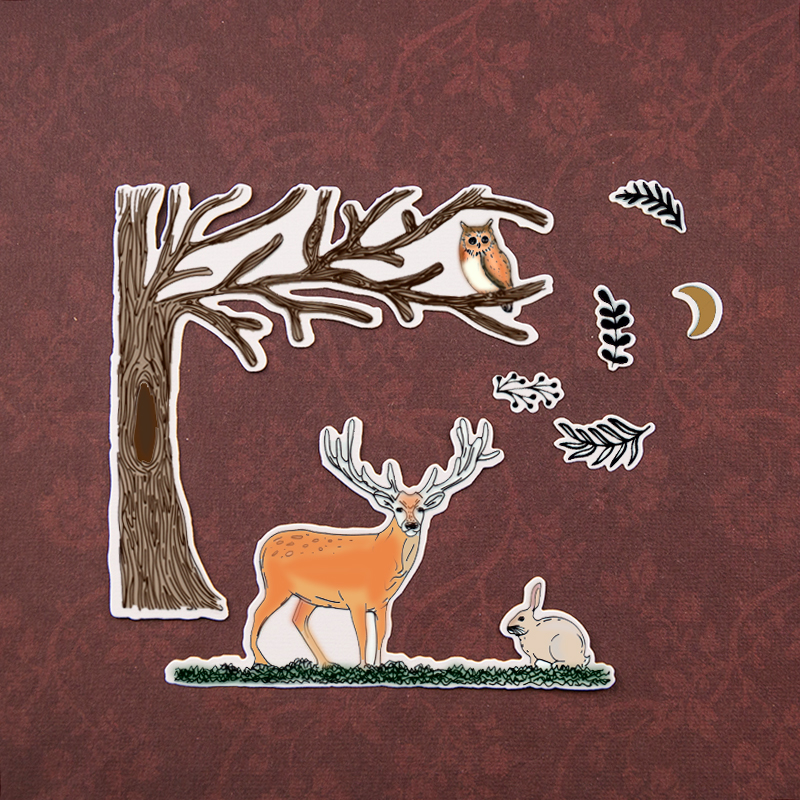 Dies...to die for metal cutting craft die Reindeer Caribou Holiday Christmas