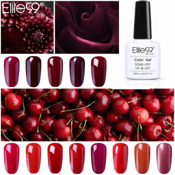 Elite99 Gel Nagellack Hybrid Lacke 10ml Wunderschöne Farbe Gel Lak Top Basis Primer Vernis Semi Permanent Gel Lak lacke