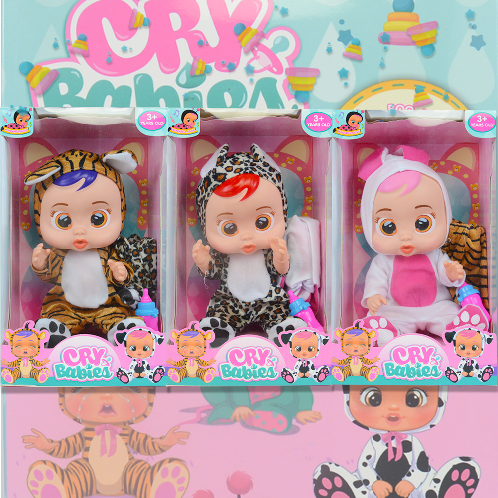 Bigger 14inch Cry Babies Lea Baby Educational Dolls Gift Set Christmas Gifts Dolls Toys For Girls