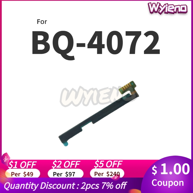 Wyieno Switch On/off Volume Ribbon For BQ-4072 Strike Mini Power Button Flex Cable Replacement Parts + Tracking