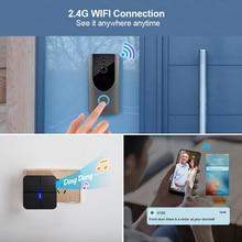 Kerui 720p vídeo porteiro campainha sem fio da câmera de segurança em dois sentidos áudio visão noturna porta campainha intercom